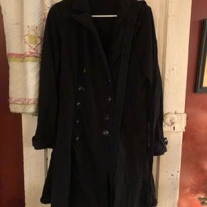 Torrid size 1 flare coat dress black